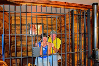 Behind bars at the Darby, MT, Sherriff's office