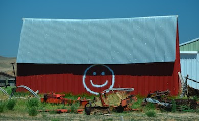 Utah has happy barns!
