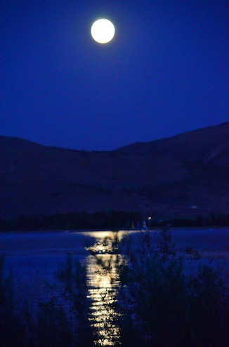 Moonrise over Bear Lake