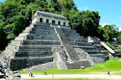 Mexico travel including Palenque ruins in Chiapas.