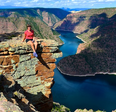 On a ledge at Flaming Gorge Red Canyon Visitors Center