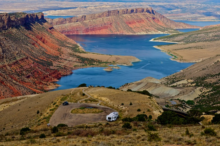 Flaming Gorge Sheep Creek Canyon Overlook from our RV