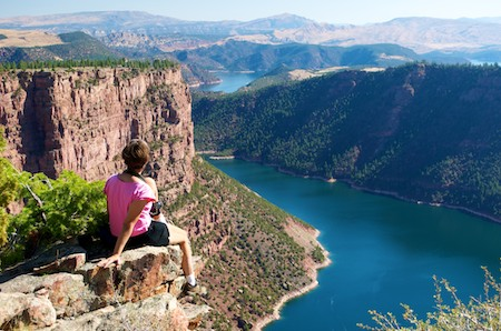 RV boondocking offers amazing views of Flaming Gorge