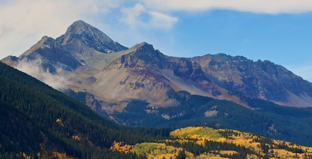 Telluride Colorado San Juan Mountains fall foliage