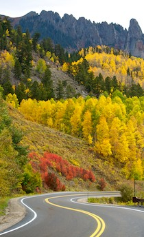 Route 62 Telluride Colorado Dallas Divide Aspens