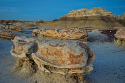 Bisti Badlands New Mexico the eggs at dusk