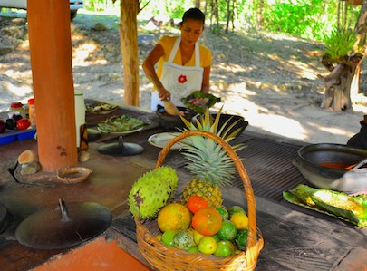 Hagia Sofia Huatulco outdoor kitchen in the woods