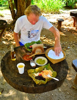 Hagia Sofia Huatulco Oaxacan brunch at darling outdoor tables