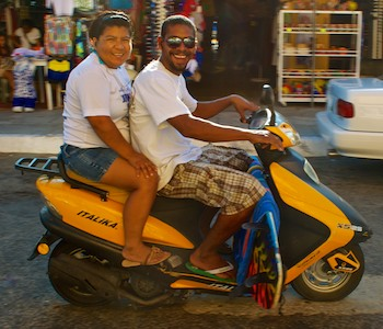 motor scooters in huatulco cruising mexico blog
