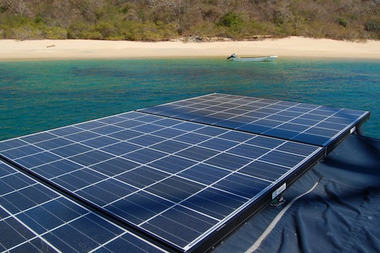 marine solar panels on hunter 44ds sailboat