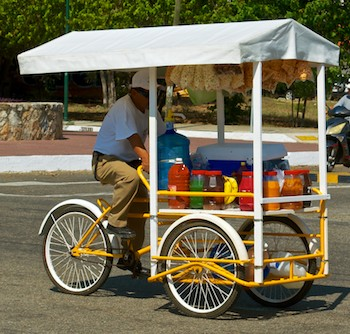 snack vendor on a trike huatulco cruising mexico blog
