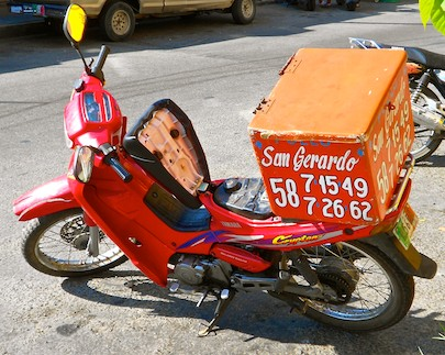 pizza pollo delivery motorcycle huatulco sail mexico blog