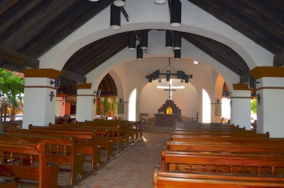 From our cruising blog - we visited the delightful Santa Cruz Huatulco church