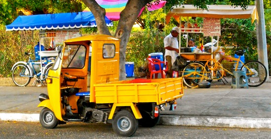 tuk-tuk and snack vendors huatulco sailing mexico blog