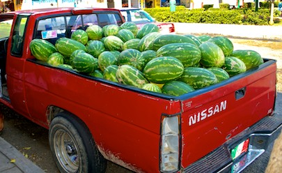 watermelons in pickup huatulco sailing mexico blog