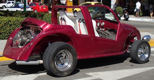 16 red volkswagon dune buggy huatulco sail mexico blog 500