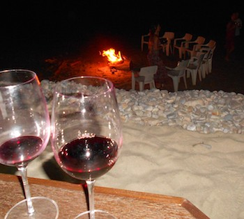 Beach bonfire Villa Escondida Huatulco Mexico cruising blog