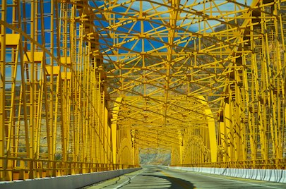 Rio Infiernillo Steel Bridge Michoacan Mexico cruising blog