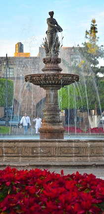 Tarascas fountain Morelia Mexico cruising blog