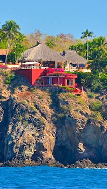 Castles in Careyes Mexico Costalegre Red mansion