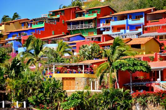 Colorful Careyes houses Costalegre Mexico