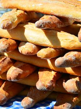 stacked french bread