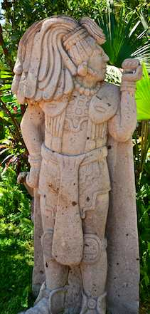Mayan Statue at paradise village marina