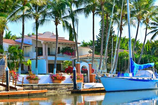 Paradise Village Home with yacht
