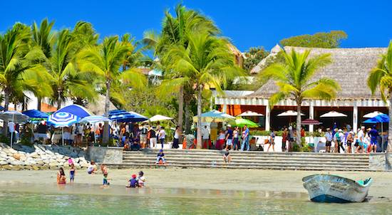 La Cruz Market and beach