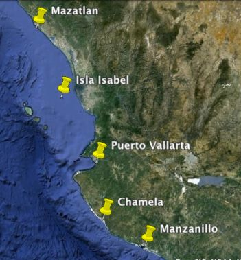 Map of Mexican Riviera