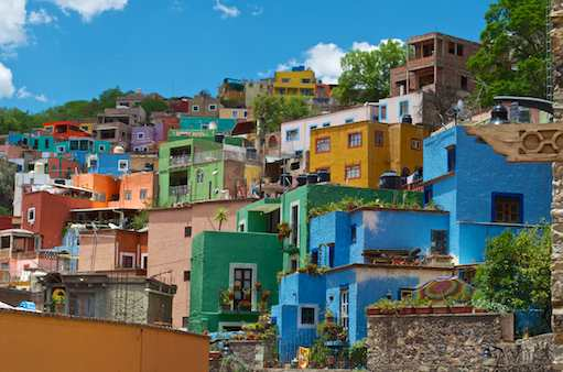 Colorful hillside of Guanajuato