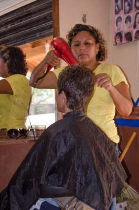 Getting a haircut in Mexico