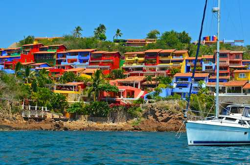 Colorful Bahia Careyes on the Costalegre