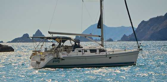 Groovy anchored at Cuastecomate Bay on Mexico's Costalegre