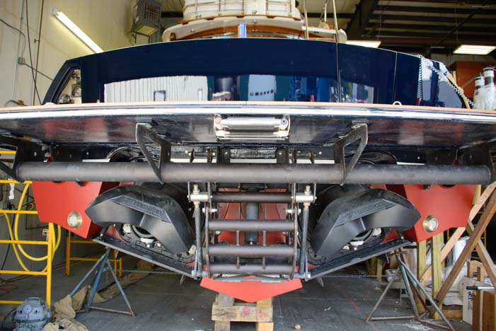 Hinckley Yachts Jet Drive engine on their boats