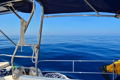 Vivid blue water in the Sea of Cortez