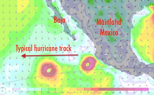 Hurricanes on Mexico's Pacific coast