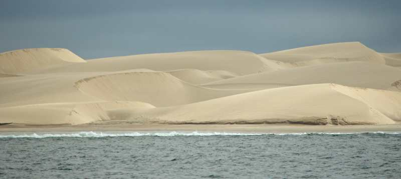 Sand dunes in Bahia Santa Maria near Magdalena Bay in Baja California