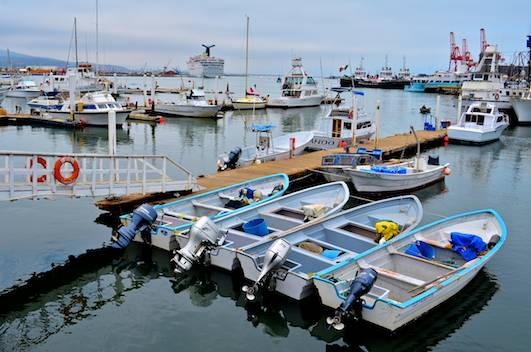 Docks on Ensenada's Malecon