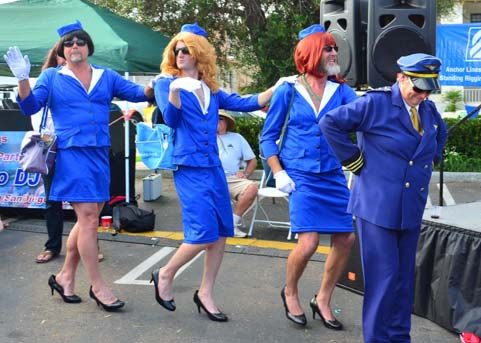 The Pan Am gals (cough cough) paraded in.