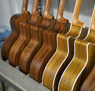 Taylor Guitars ready to be sold