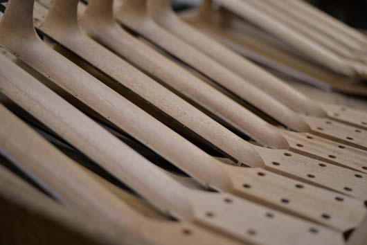 Taylor Guitar necks lined up