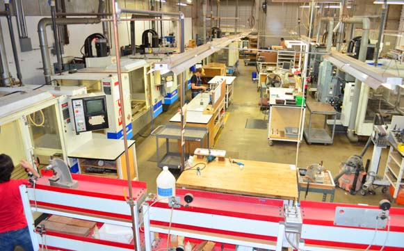 Bird's eye view of Taylor Guitar Factory Floor