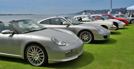Porche car show on Shelter Island