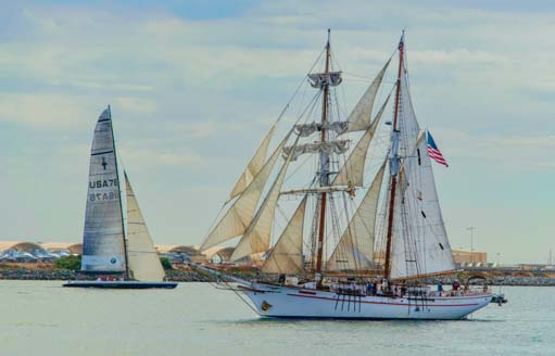 New and old ships in San Diego