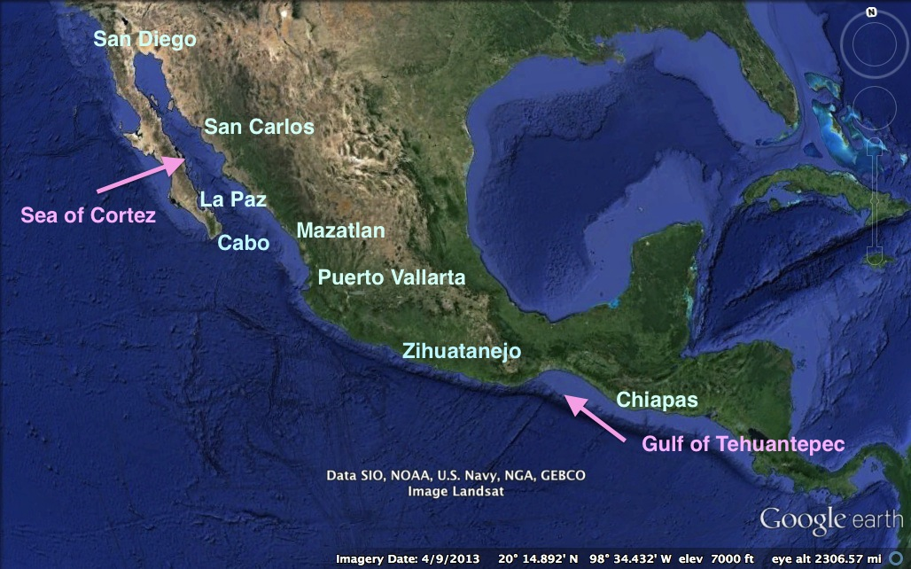 Our Mexico Cruise Aboard Groovy - San diego us map close to mexico