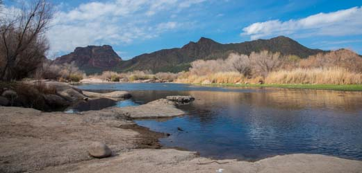Confluence of the Salt River and Verde River