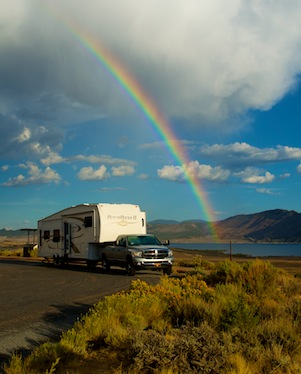 RV boondocking in Flaming Gorge Utah