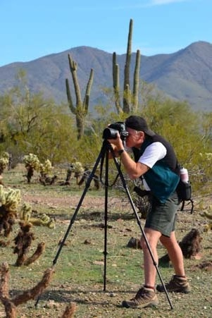 Mark photographs Arizona with tripod
