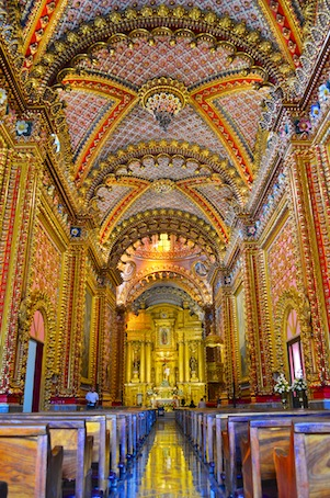 Inside Morelia Mexico cathedral